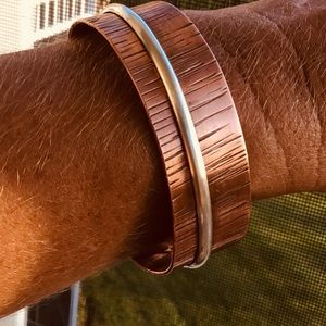 SALE NEW Copper Silver Cuff Bracelet Jewelry